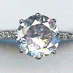 brilliant round cut diamond in ring